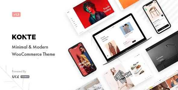 Konte - Minimal & Modern WooCommerce WordPress Theme - WooCommerce eCommerce