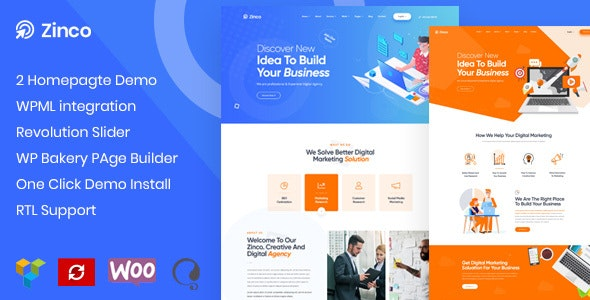 Zinco - SEO & Digital Marketing WordPress - Marketing Corporate