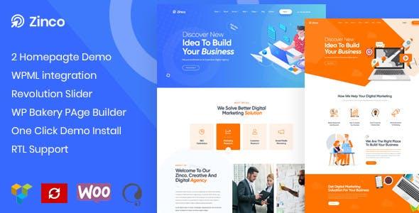 Zinco - SEO & Digital Marketing WordPress