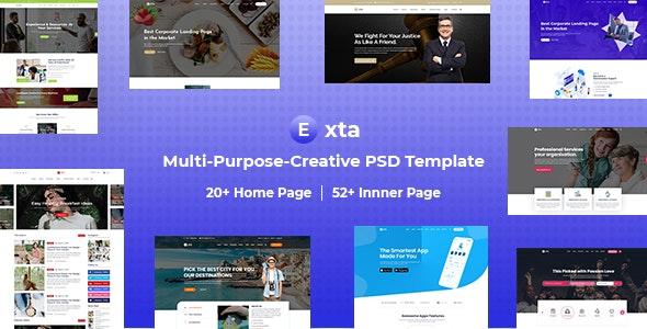 Exta Multi-Purpose-Creative PSD Template - Health & Beauty Retail