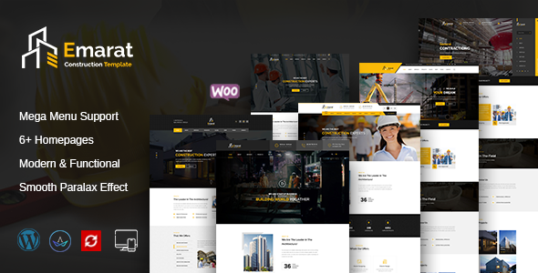 Emarat - Construction WordPress Theme - Business Corporate