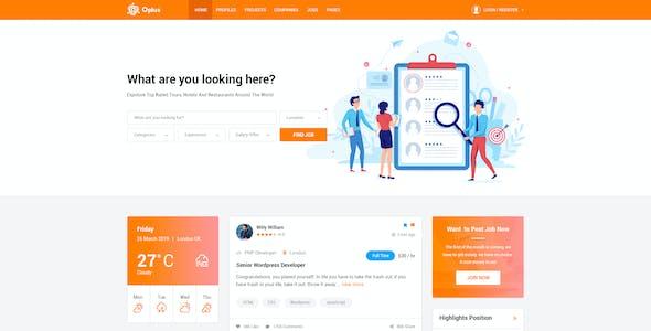 Oplus - Online Job Board Social Network PSD Template