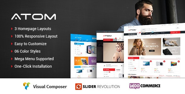 Atom - Responsive WooCommerce WordPress Theme - WooCommerce eCommerce