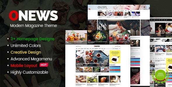 ONews - Modern Newspaper & Magazine Theme WordPress (Mobile Layout Ready) - News / Editorial Blog / Magazine