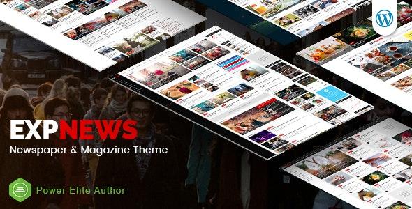 ExpNews - Newspaper and Magazine WordPress Theme - Blog / Magazine WordPress