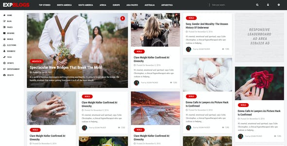 ExpNews - Newspaper and Magazine WordPress Theme
