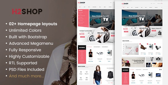 H2Shop - Responsive WooCommerce Shop WordPress Theme - WooCommerce eCommerce
