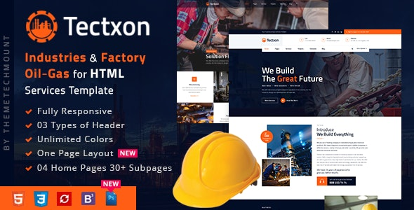 Tectxon - Industry & Factory HTML5 Template by ThemetechMount