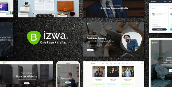 Bizwa - One Page Parallax - Business Corporate