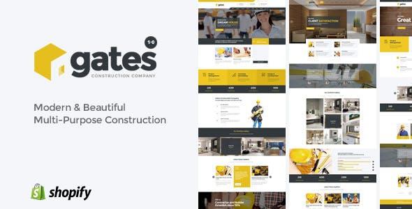 Gates - Multi-Purpose Construction Website Shopify Theme
