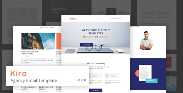 KIRA - Agency Email Template - Email Templates Marketing