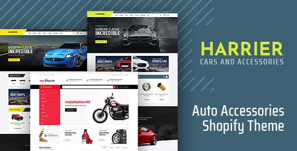 Harrier Auto Parts Accessories Store Shopify Theme By Themesground