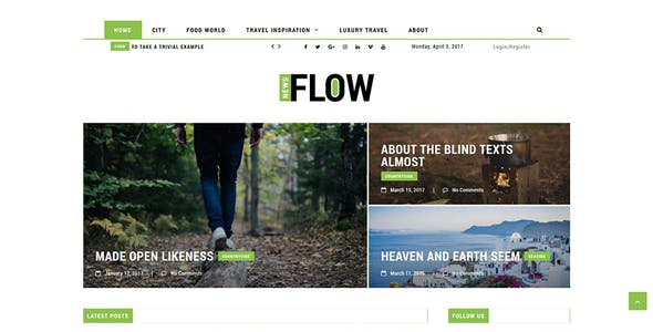 Flow News - Magazine and Blog WordPress Theme