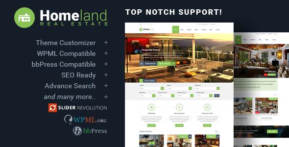 Homeland - Responsive Real Estate Theme for WordPress - Real Estate WordPress