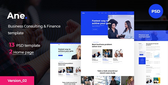Ane - Business & Consulting PSD Template - Business Corporate