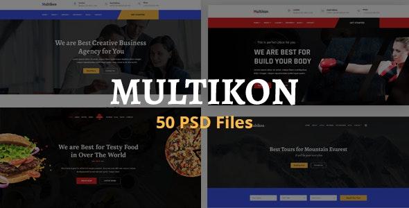Multicon - Multipurpose Business PSD Template - Business Corporate