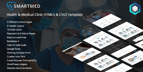 SmartMed - Health & Medical Clinic HTML5 & CSS3 Template - Site Templates