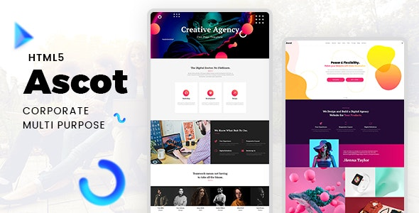 Ascot - One Page Corporate HTML Template - Corporate Site Templates