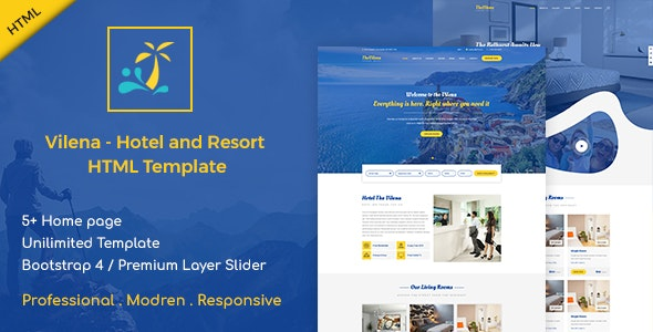 Vilena - Hotel and Resort Booking HTML Template by Unicoder