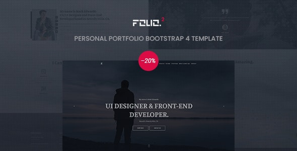 Folio – Personal Portfolio Bootstrap 4 Template - Portfolio Creative