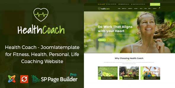 Health Coach - Joomla Template for Fitness, Health, Personal Life Coaching - Health & Beauty Retail