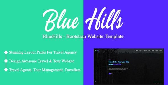 BlueHills - Bootstrap Website Template - Travel Retail