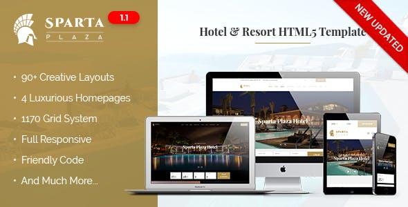 Sparta | Hotel & Resort HTML5 Template