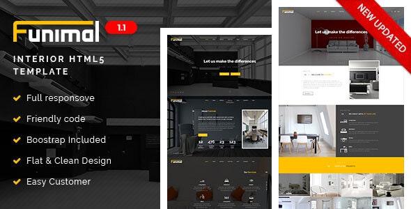 Funimal - Premium Furniture/Interior HTML Template - Corporate Site Templates