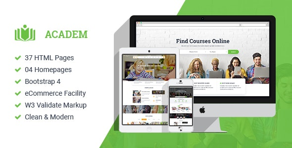 Academ - College University & Education HTML Template - Site Templates