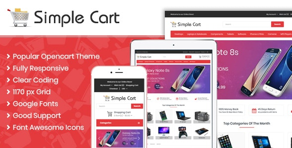 Simple Cart Responsive OpenCart - Miscellaneous OpenCart