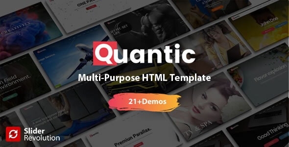 Quantic - Premium One Page Multi-Purpose HTML5 Template - Creative Site Templates