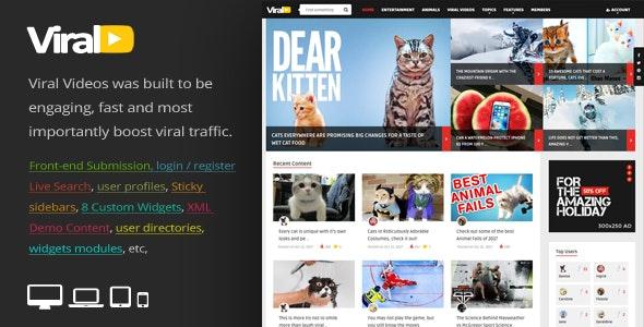 ViralVideo - Responsive Magazine WordPress Theme - News / Editorial Blog / Magazine