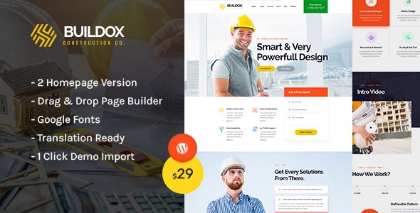 Buildox - Construction and Building WordPress Theme - Business Corporate