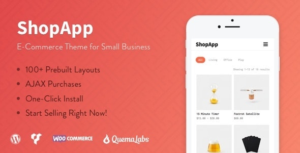 ShopApp - WordPress Theme for Small Business - WooCommerce eCommerce