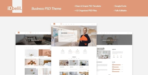 iDbelil - PSD Template - Business Corporate