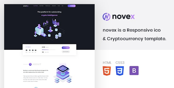 novex - ICO & Cryptocurrency Template - Technology Site Templates