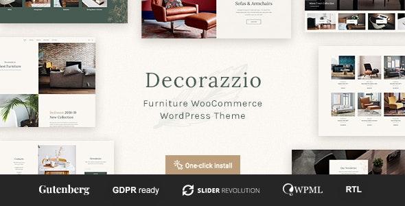 Decorazzio - Interior Design and Furniture Store WordPress Theme - WooCommerce eCommerce