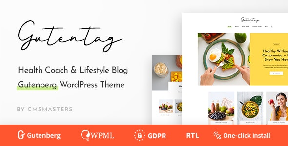 GutenTag - 100% Gutenberg Blog WordPress Theme - Blog / Magazine WordPress