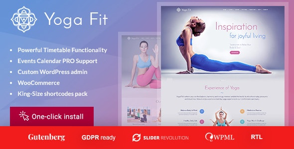 Yoga Fit - Sports & Fitness WordPress Theme - Health & Beauty Retail