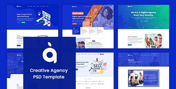 Astroke - PSD Template For Creative Agency - Business Corporate