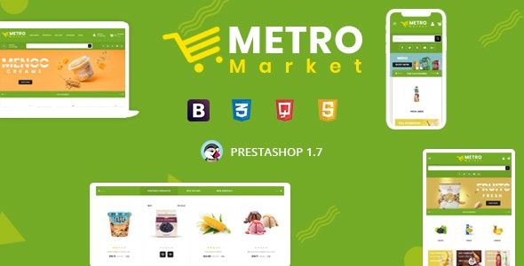 Metro Market - Organic & Grocery Store Prestashop 1.7 Responsive Theme - Health & Beauty PrestaShop