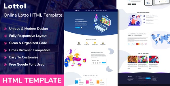 Lottol - Online Lotto HTML Template by rifat636 | ThemeForest
