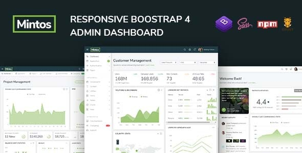 Mintos - Responsive Bootstrap 4 Admin Dashboard Template - Admin Templates Site Templates