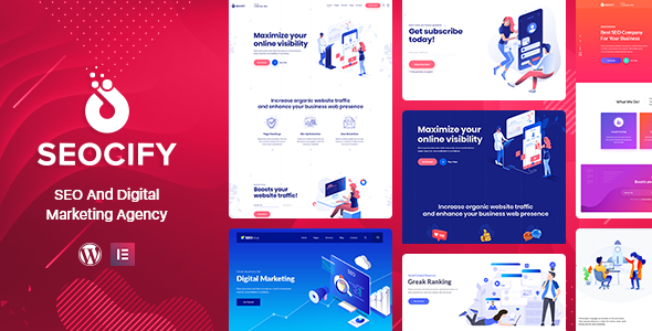 Seocify - SEO Digital Marketing Agency WordPress Theme - Marketing Corporate