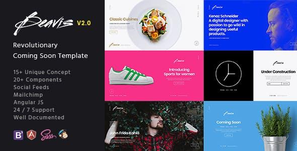 Beavis - Multi-Concept HTML5 Coming Soon Template