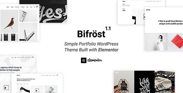Bifrost - Simple Portfolio WordPress Theme - Portfolio Creative