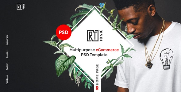 RT Tonic - Multipurpose eCommerce PSD Template - Retail PSD Templates