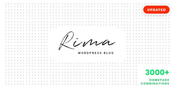 Rima - Personal Blog WordPress Theme - Personal Blog / Magazine