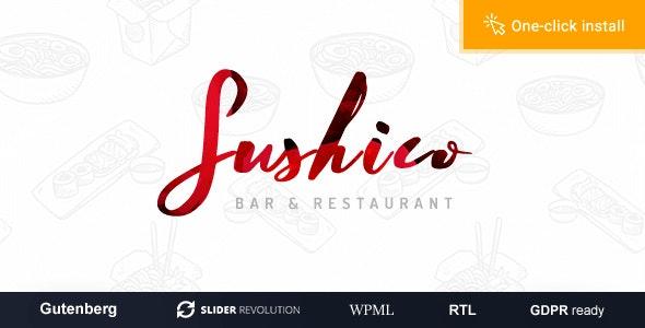 Sushico - Sushi and Asian Food Restaurant WordPress Theme - Food Retail