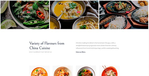 Sushico - Sushi and Asian Food Restaurant WordPress Theme